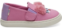 Pink Abby Face Canvas Tiny TOMS Luca Slip-Ons