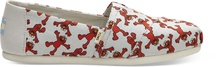 Light Grey Elmo Printed Canvas Women's Espadrilles
