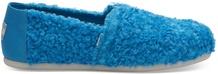 Blue Cookie Monster Faux Shearling Women's Espadrilles