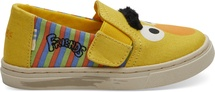 Yellow-Orange Bert and Ernie Face Canvas iny TOMS Luca Slip-Ons