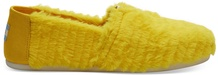 Yellow Big Bird Faux Feathers Women's Espadrilles