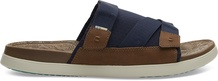 Navy Synthetic Nubuck-Textured Mesh MIx TRVL Lite Men's Sandals