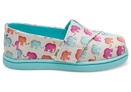 Multi Elephants Canvas Print Tiny TOMS Classics