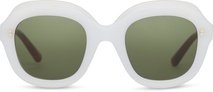Mariska Pearl White | Bottle Green Lens
