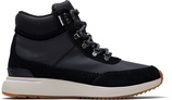 Waterproof Black Suede and Nylon Women's Cascada Sneakers