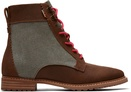 Brown Waxy Suede and Dusty Olive Washed Canvas Women's Nolita Boots