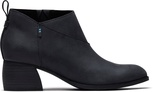 Black Leather Women's Leilani Booties