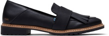 Black Leather Women's Mallory Flats