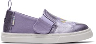 Purple Canvas Foil Luca Toddler Slip-Ons