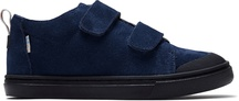 Navy Suede Youth Lenny Mid Double Strap Sneakers