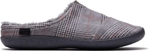 Drizzle Grey Brushed Glen Plaid Mens Berkeley Slip-Ons