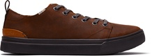 Brown Distressed Leather Men's TRVL LITE Low Sneakers