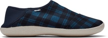 Navy Twill Check Men's Rodeo Slippers