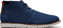 Navy Suede Leather Men's Navi Boots