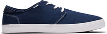 Navy Canvas Contrast Stitch Carlo Men's Sneakers