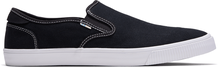 Black Canvas Contrast Stitch Baja Men's Slip-Ons
