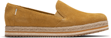 Amber Gold Suede Women's Palma Espadrilles