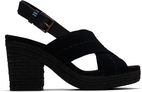 Black Suede Vegan Tan Leather Women Ibiza Sandal