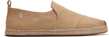 Brown Washed Canvas Men's Espadrilles