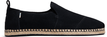 Black Suede Men's Deconstructed Alpargata Rope