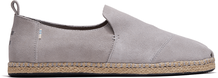 Drizzle Grey Suede Men's Deconstructed Alpargata Rope