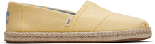 Plant Dye Yellow Canvas Women's Espadrilles