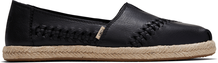 Black Leather Women's Espadrilles