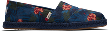Blue Tropical print Women's Espadrilles