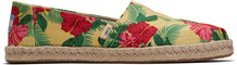 Yellow Hibiscus Floral Women's Espadrilles
