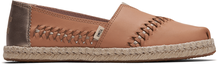 Brown Leather Women's Espadrilles