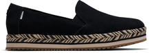 Black Suede Women's Palma Slip-On Espadrilles