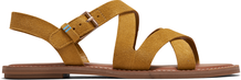 Amber Gold Suede Women's Sicily Sandals