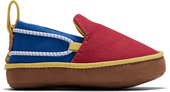 Red-Blue Canvas Lima Baby Slip-Ons