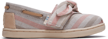 Pink Woven Striped Tiny Bimini Slip-Ons