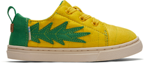 Gold Pineapple Quilted Tiny TOMS Lenny Elastic Sneakers
