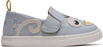Glacier GreyCanvas/Monkey Applique Tiny Luca Slip-Ons