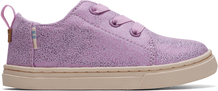 Lavender Iridescent Droplets Tiny TOMS Lenny Elastic Sneakers