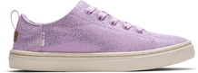 Lavender Iridescent Droplets Youth Lenny Elastic Sneakers