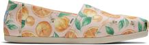 PalePink Sunkissed Oranges Print Alpargata
