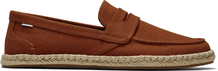 Umber Brown Slubby Woven Men Standford Rope Espadrille
