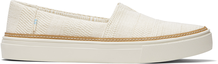 Natural Textural Woven Parker Slip-On