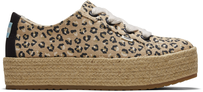 Natural Textured Cheetah Cassiah Espadrille