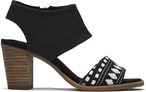 Black Global Woven Majorca Sandal